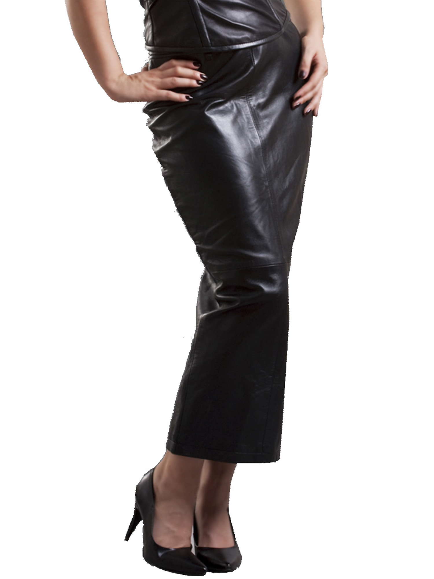 Fetish leather skirt consider