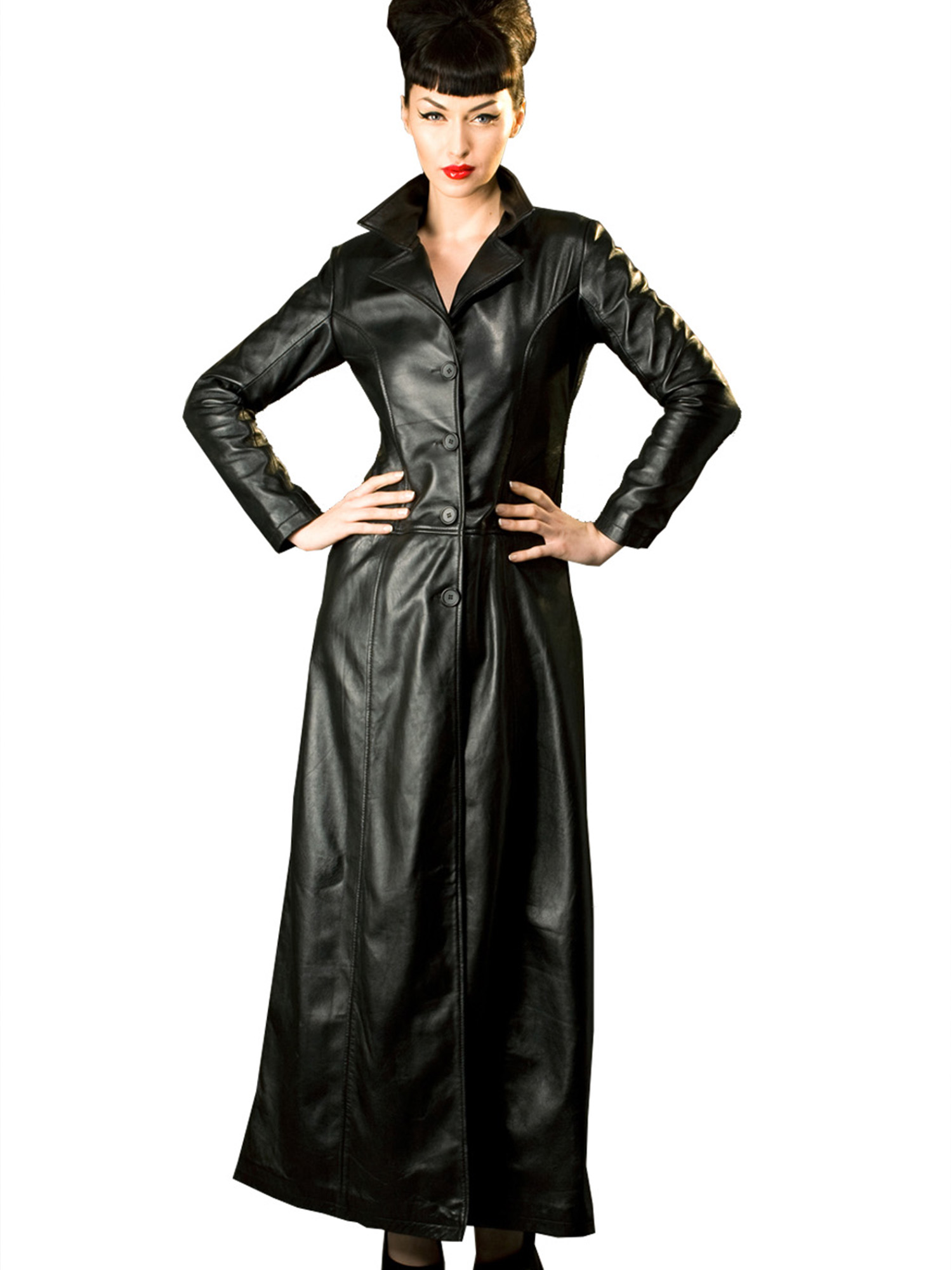 Honour Women's Sexy Trench Jacket Coat in Leather Fitted ...