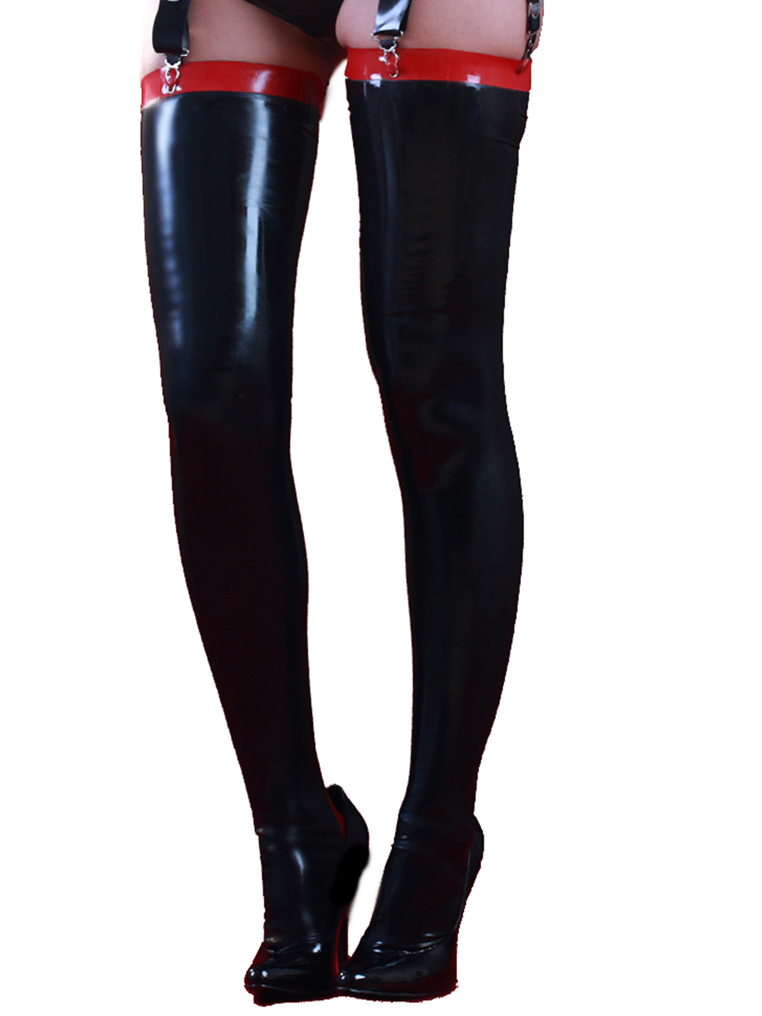 honour women 39 s siren stockings in latex rubber with cuban heel shaped foot ebay. Black Bedroom Furniture Sets. Home Design Ideas