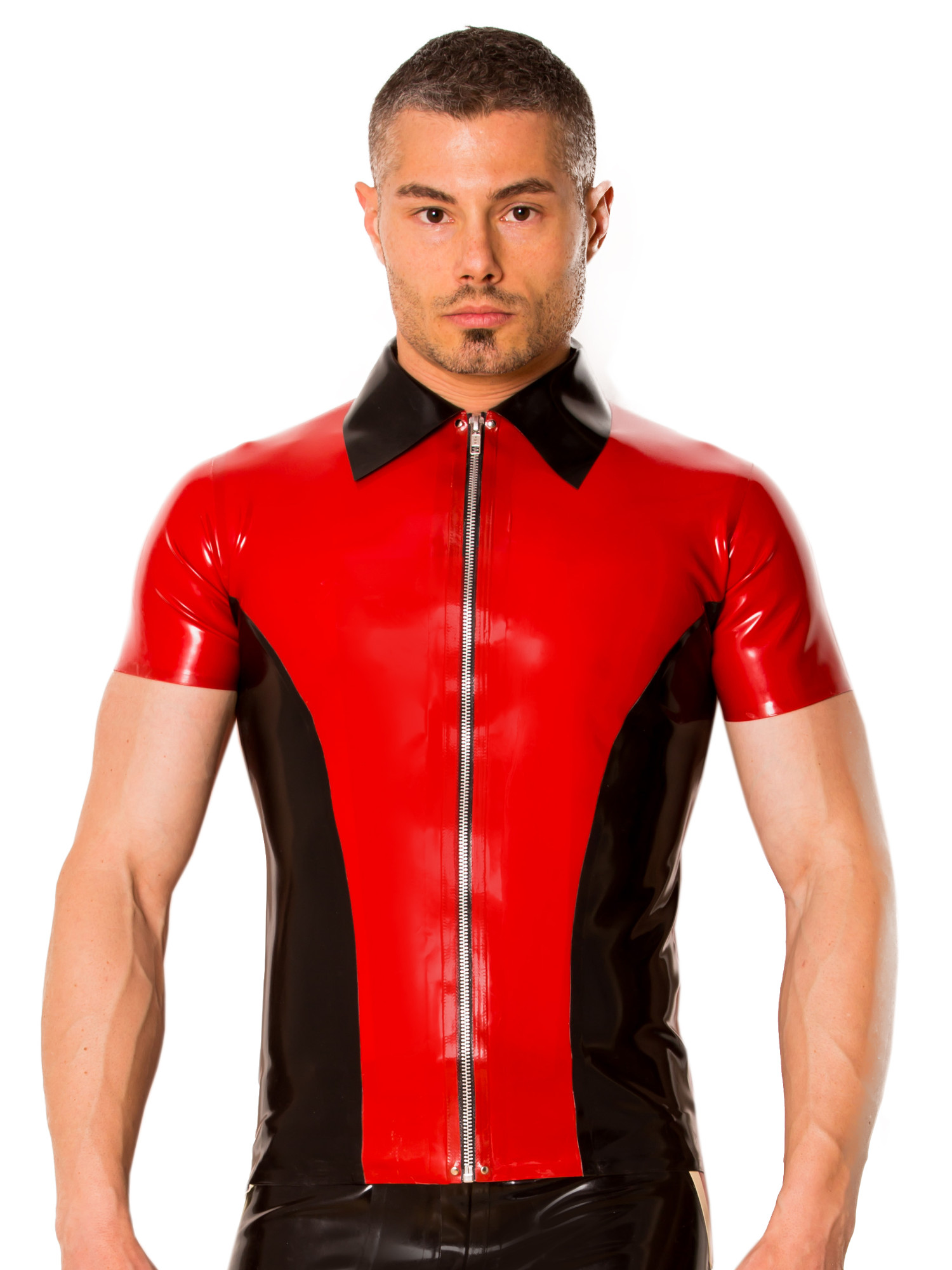 Skin Two Clothing Men's Kinky Shirt Tight Fitted in Latex ...
