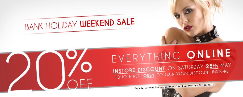 20% Off May Bank Holiday Sale