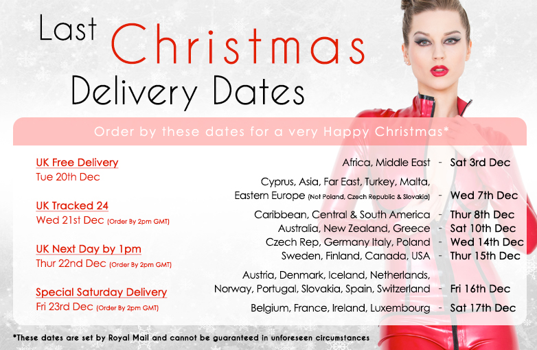 X-Mas Last Delivery Dates